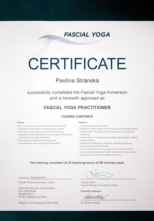 fascien certificate